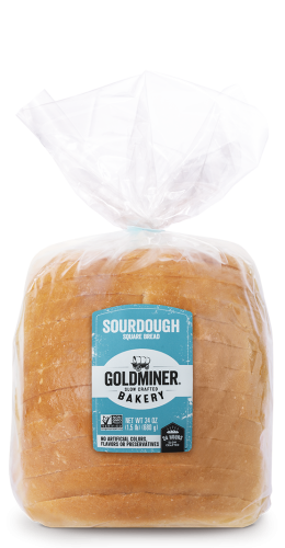 Goldminer Sourdough Square Packaging