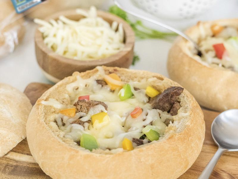 Philly Cheesesteak Stew Sourdough Boules