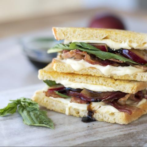 Bacon, Brie & Plum Grilled Cheese