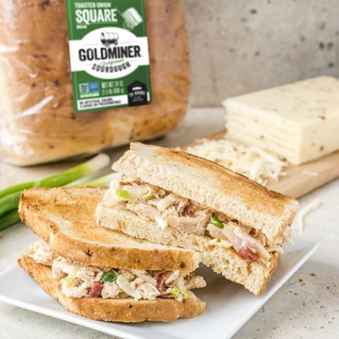Bacon Ranch Chicken Salad Sandwich