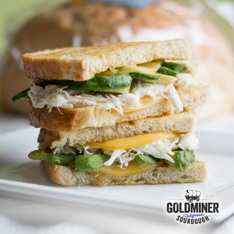 Crab, Avocado & Gouda Grilled Cheese